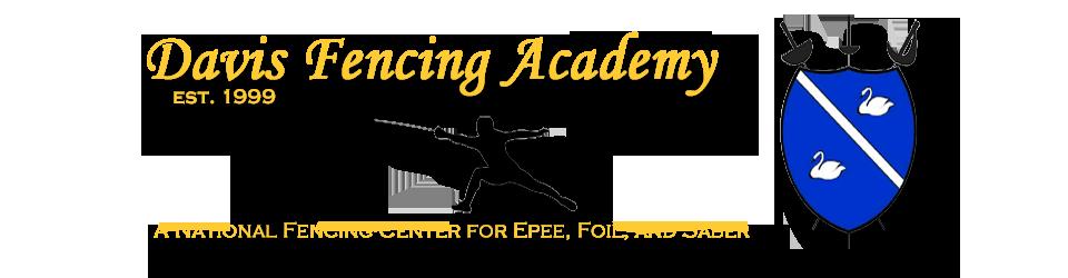 Dfa Logo 05 Corsiva Gold Davis Fencing Academy